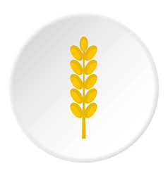 Field spike icon circle vector