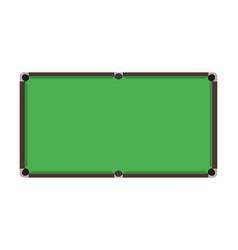 flat snooker table top view of green billiard fie vector image