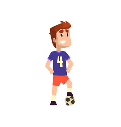 football soccer player on a vector image