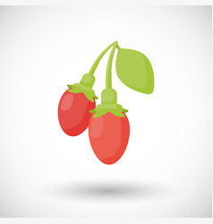 Goji berries flat icon vector