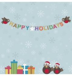 Happy holidays vector