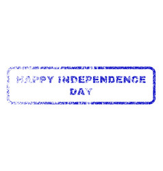 Happy independence day rubber stamp vector