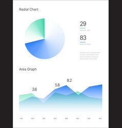 infographic elements ui and ux kit with big data vector image