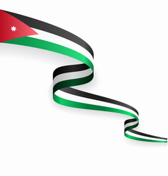 jordanian flag wavy abstract background vector image