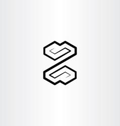 letter z black logo symbol design sign vector image
