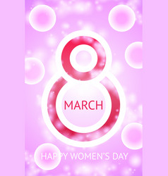 march 8 beautiful creative greeting card vector image