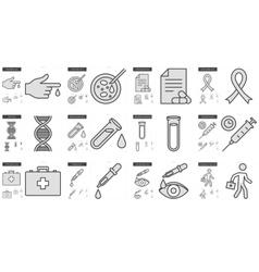 Medicine line icon set vector