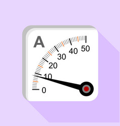 Moving iron type analog panel ammeter icon vector