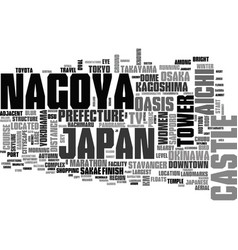 Nagoya word cloud concept vector