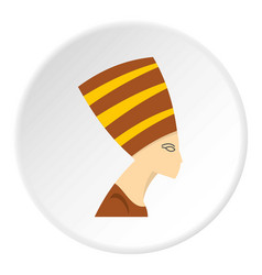 Nefertiti head icon circle vector