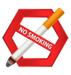 No smoking sign icon realistic style vector