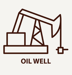 oil well logo template vector image