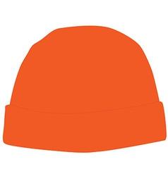 Orange winter hat vector image