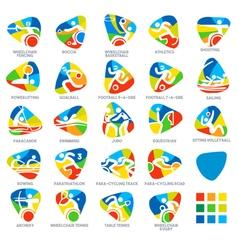 Paralympics Icon Pictograms Set 4 vector