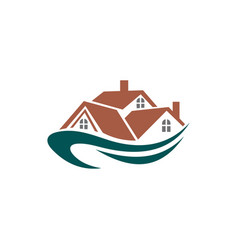 private cottages real estate buildings logo vector image