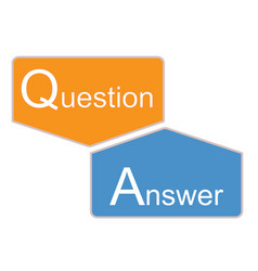q and a icon on white background question vector image
