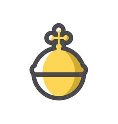 royal golden orb icon cartoon vector image