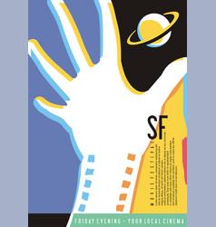 Science fiction movie festival poster design vector