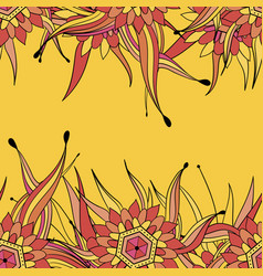 seamless pattern background with abstract leaves vector image