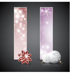 Set of christmas cards or banners vector