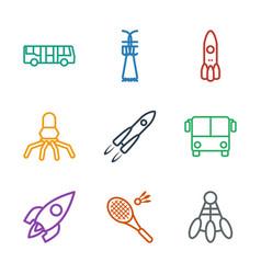Shuttle icons vector