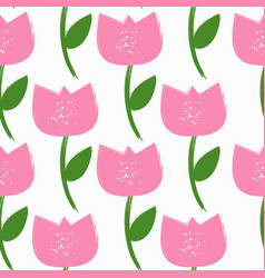 simple flower seamless pattern background vector image