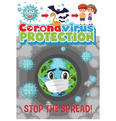 Stop spread corona virus vector