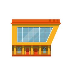 store facade exterior of market modern building vector image