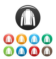 thermo clothes icons set color vector image