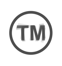 Trade mark sign gray icon shaked at white vector