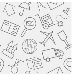 transportation hand drawn sketchy outline pattern vector image
