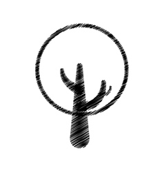 tree plant hand drawing isolated icon vector image