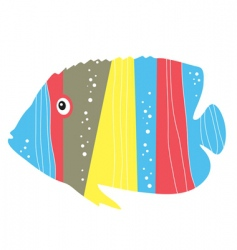 tropical fish vector image