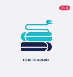 Two color electric blanket icon from electronic vector