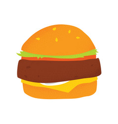 vegan beans burger isolated vector image