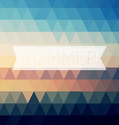 Vintage summer poster sun rope frame file layered vector