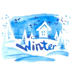 Watercolor winter vector