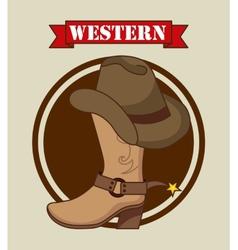 western banner vector image vector image