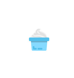 yogurt icon isometric of yogurt vector image