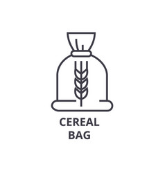 ceral bag line icon outline sign linear symbol vector image