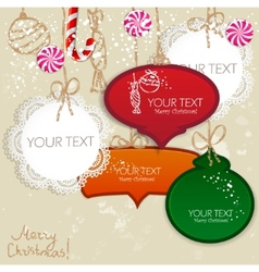 colorful little notes with space for text christma vector image