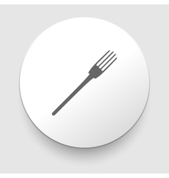 fork icon on white background vector image