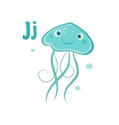 Jellyfish Funny Alphabet Animal vector image vector image