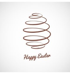spiral Easter egg vector image vector image