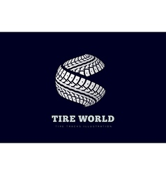 Tire Track brand invert vector image vector image