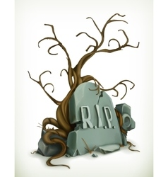 Tomb rest in peace vector image vector image