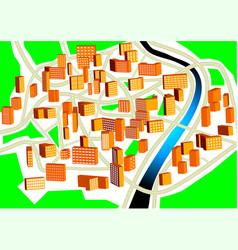 Town plan vector image