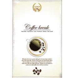 Coffee break background vector image vector image
