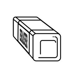 eraser school supply isolated icon vector image vector image