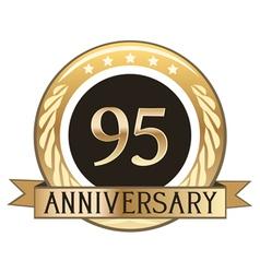 Ninety Five Year Anniversary Badge vector image vector image
